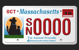 Mass Animal Coalition, Animal Friendly License Plates Logo