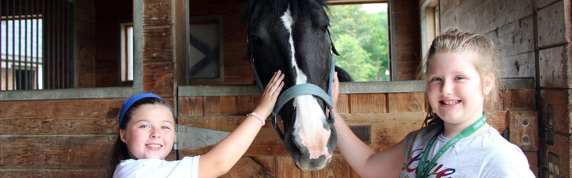 Camp Humane campers visit Equine Advocates